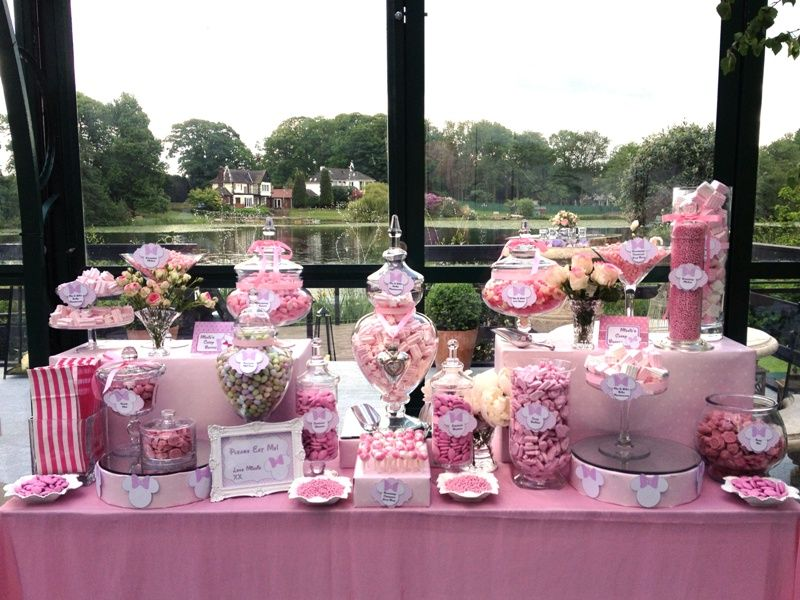 candy buffet pink minnie mouse candy buffets l sweetie tables l dessert tables l handmade truffles and chocolate gifts by the sweetie factory