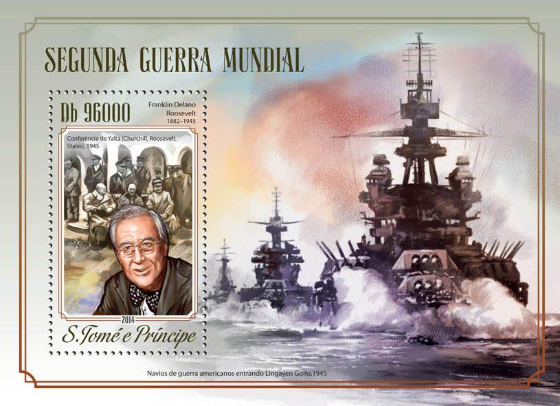 Post stamp São Tomé and Príncipe ST 14520 bWorld War II (Franklin Delano Roosevelt (1882-1945))