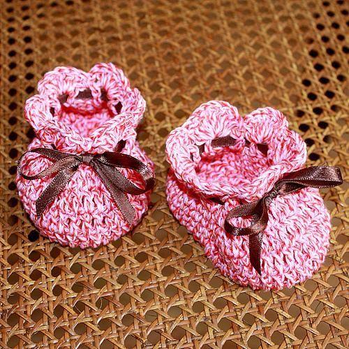 Simply Cute Baby Booties Free Crochet Pattern Tutorial Crochet