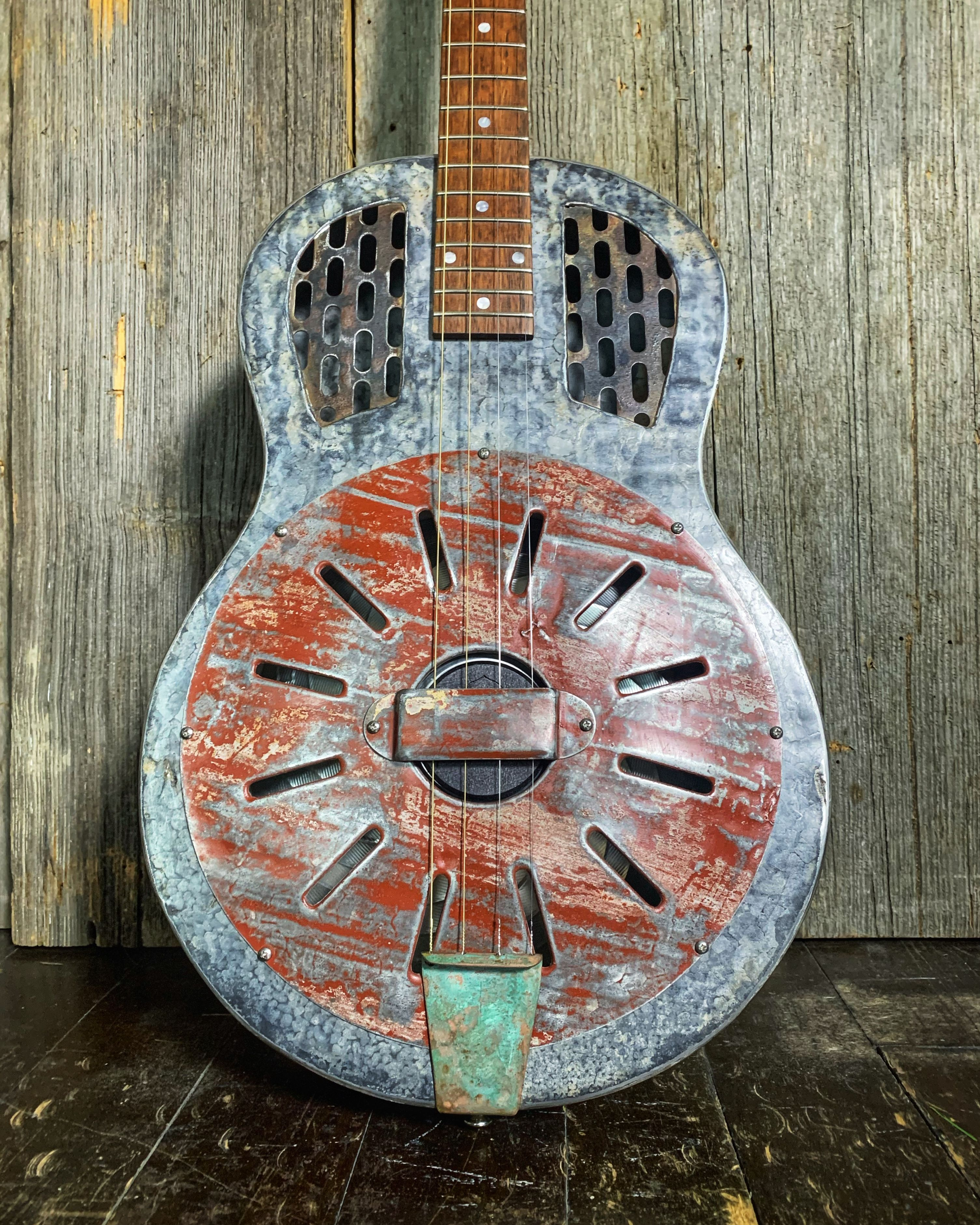 Donmo Rust Bucket Tenor Guitar Recent Tenor Guitar Guitar Iron Sheet