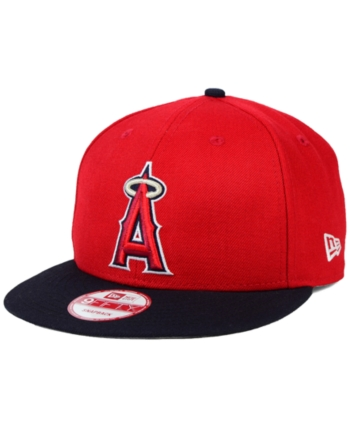 new concept c4b67 5bb11 New Era Los Angeles Angels of Anaheim 2-Tone Link 9FIFTY Snapback Cap -  Red Navy Adjustable