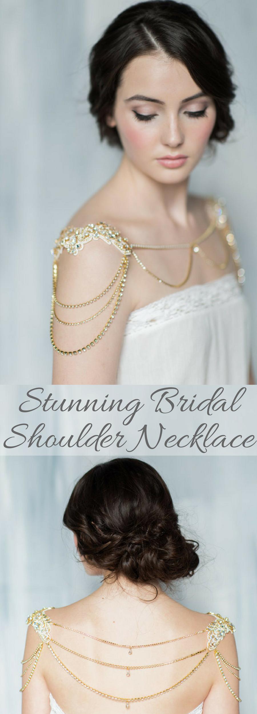 Absolutely stunning bridal shoulder necklace wedding ideas