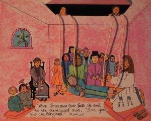 Jesus Heals The Paralyzed Man Bible Crafts Preschool Jesus Heals Preschool Bible Lessons