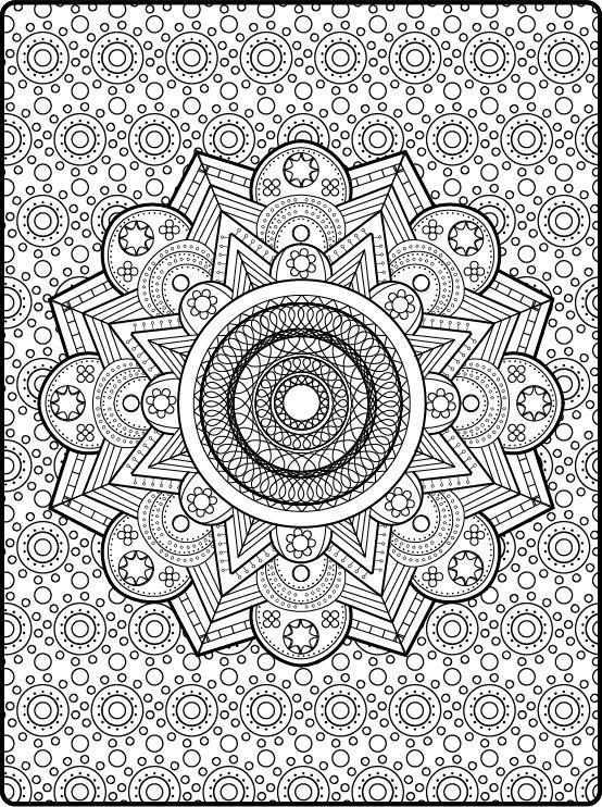 Zen Coloring Mandala Printable Adult Book Pages PDF