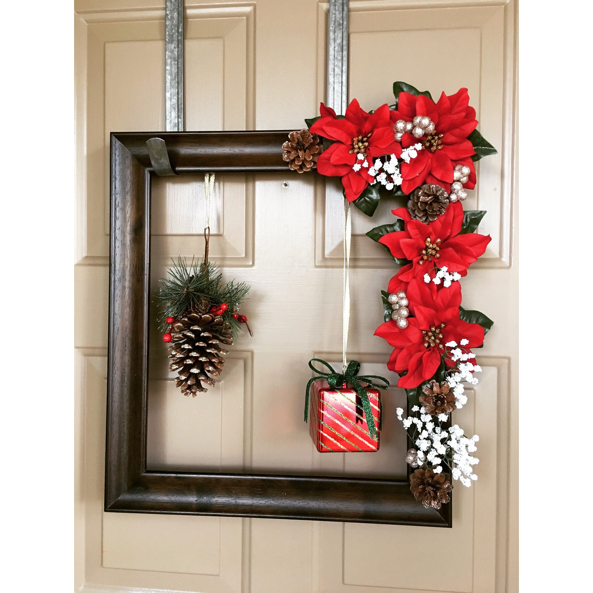 Diy Holiday Frame For The Door Frame Target Flowers, Ornaments,