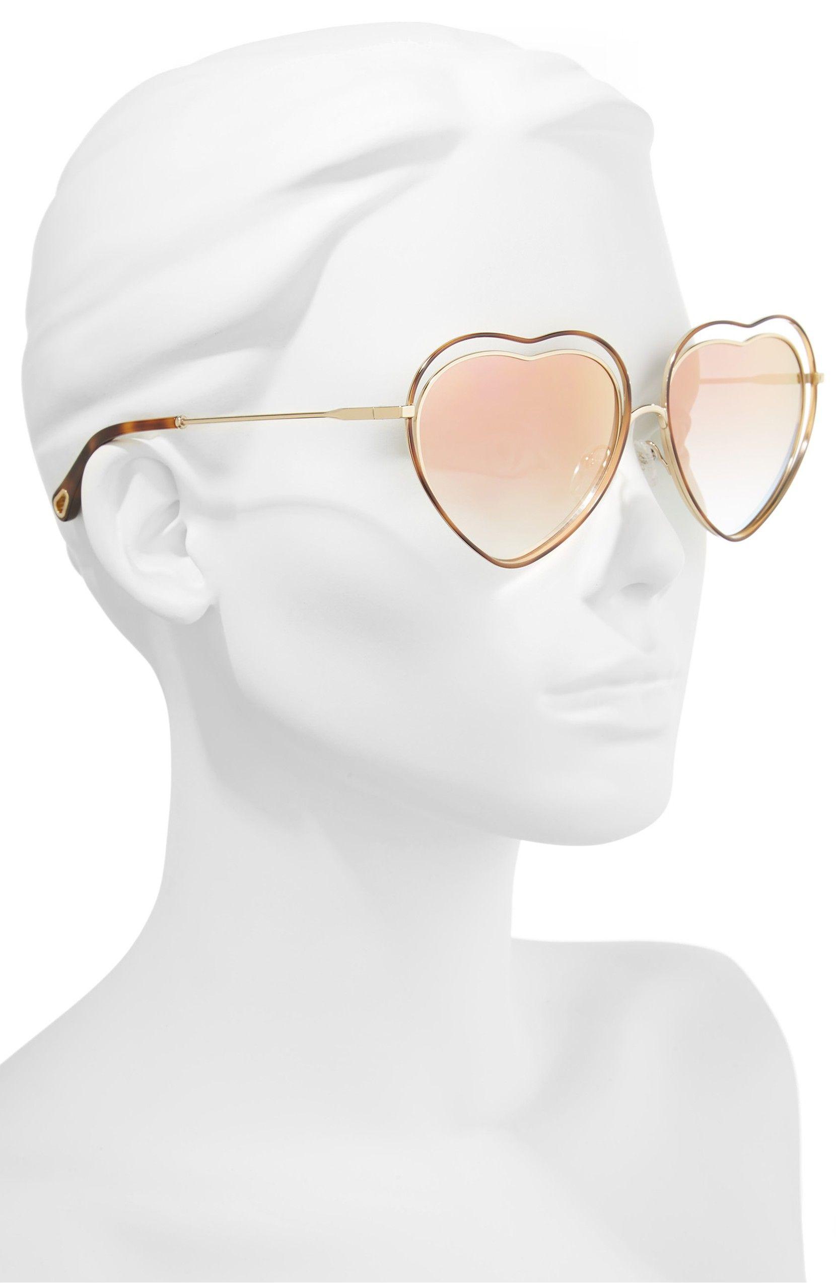 3a28c0ab2c13 Poppy Love Heart Sunglasses, color, Havana/ Brown Peach.   Online ...
