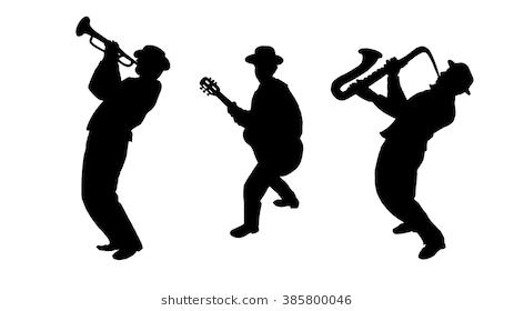 New Link Music Silhouette Musician Digital Illustration