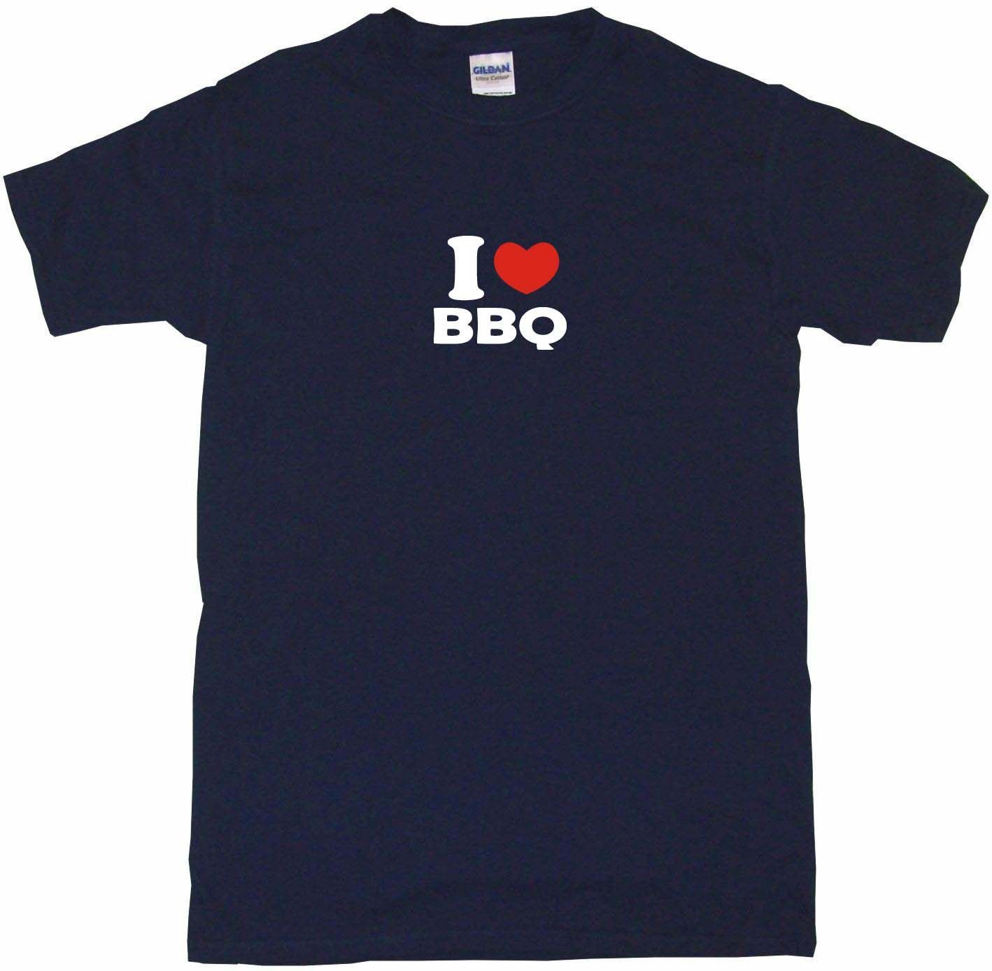 I Heart Love BBQ Tee Shirt OR Hoodie Sweat