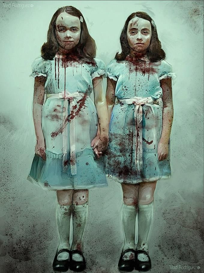 the scary twins from the shining that relate to peter and wendy after coming