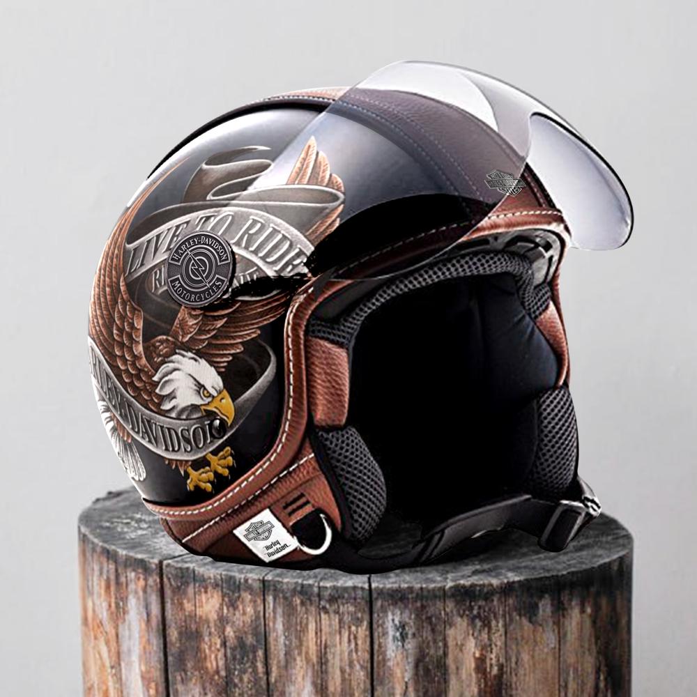 Harley Davidson Retro Urban Scooter Helmet Bravebiker Scooter Helmet Helmet Best Scooter