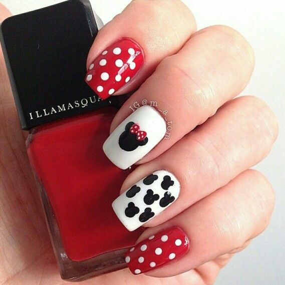 Minnie Mouse, you are so match to she\'s nail :) maybe Mickey Mouse ...