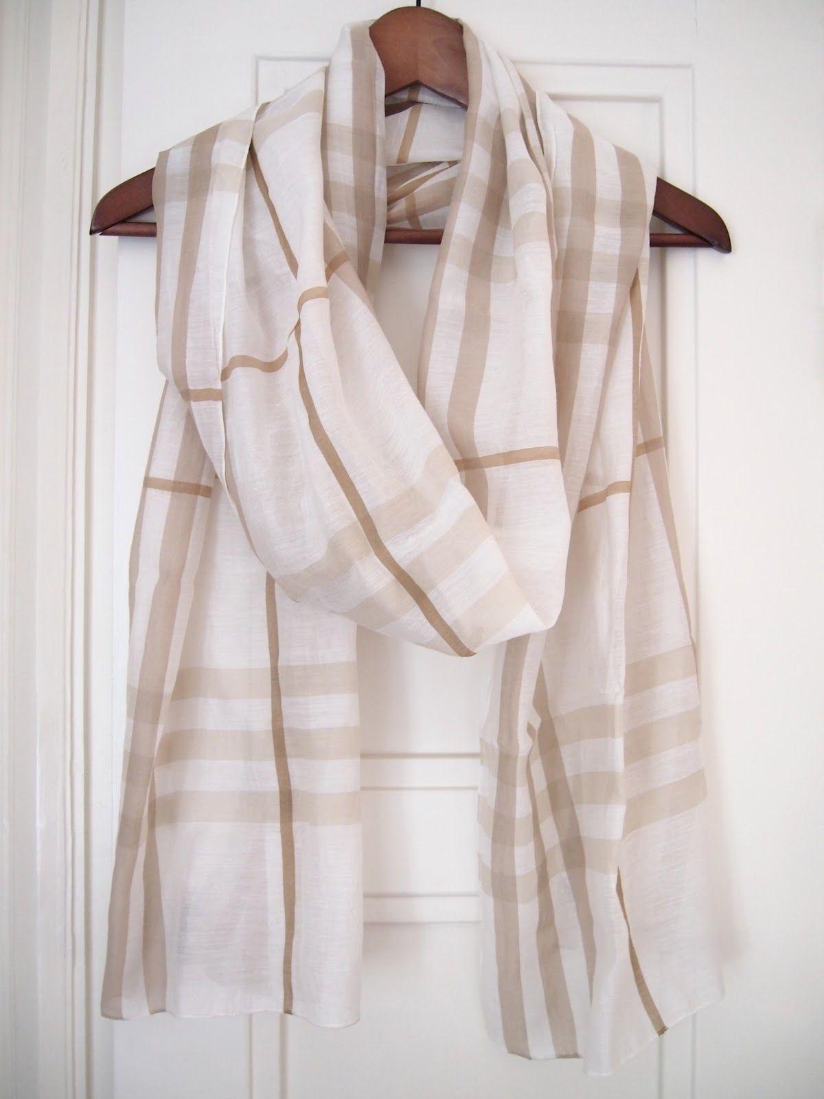 Burberry silk check scarf
