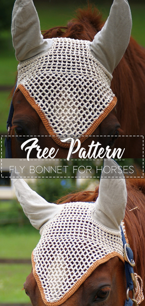 Fly bonnet for horses – Pattern Free – Easy Crochet #horsepattern