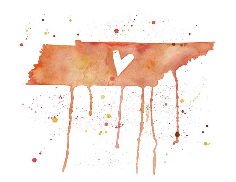 pretty etsy Tennessee artwork