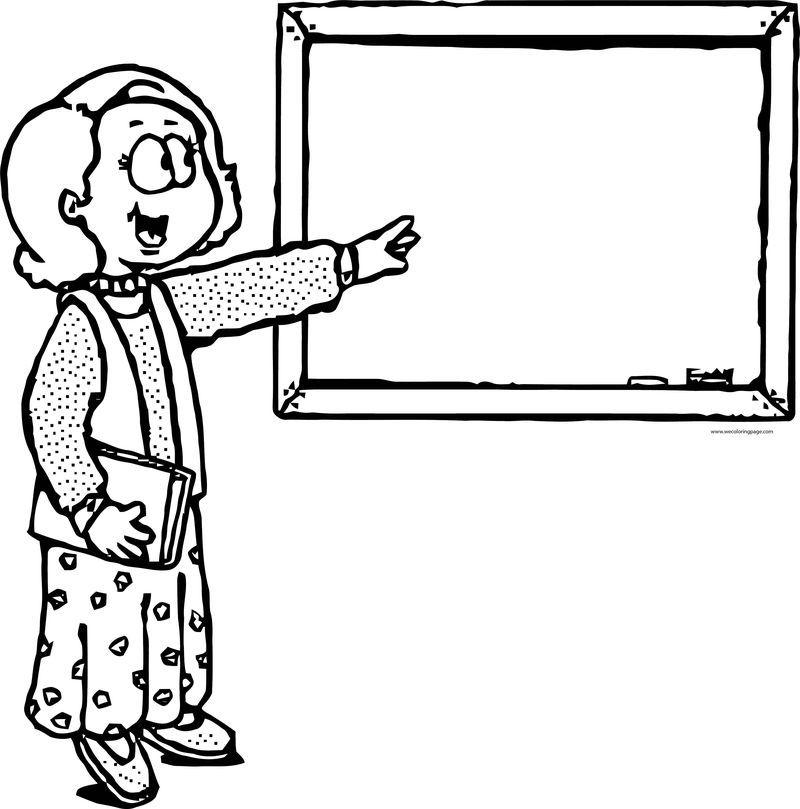 English Teacher Cartoon Woman Coloring Page Teacher Cartoon Cartoon Coloring Pages Coloring Pages