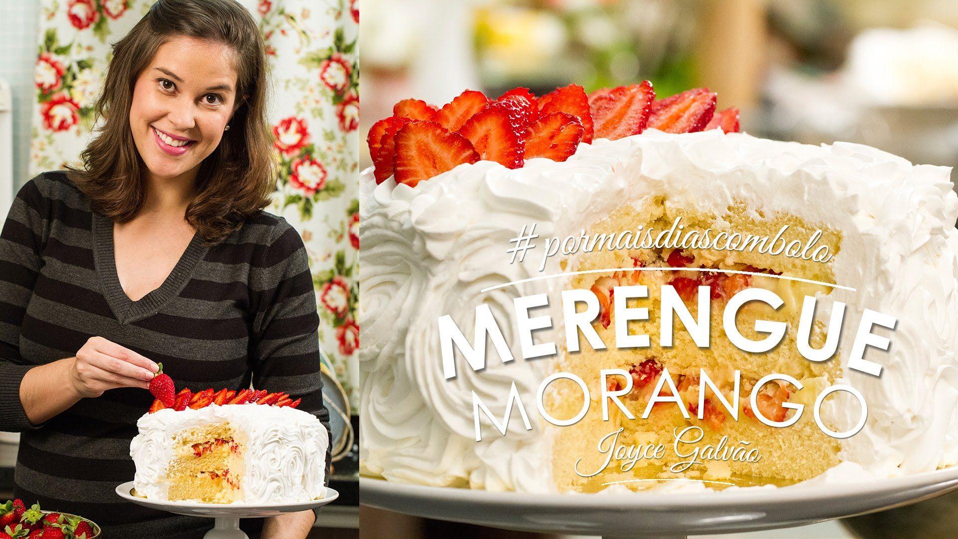 Bolo Merengue de Morango | Essência 03 #pormaisdiascombolo