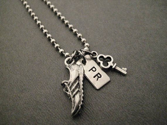 I Hold The Key To My Running Pr Necklace Bracelet Chain Bag Tag Shoe Charm Pewter On Stainless Steel Ball