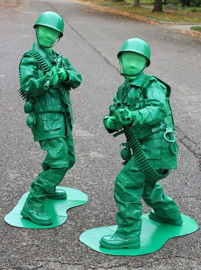 Plastic Toy Soldier Costume Army Man Story Mens Camouflage Fancy Dress Outfit