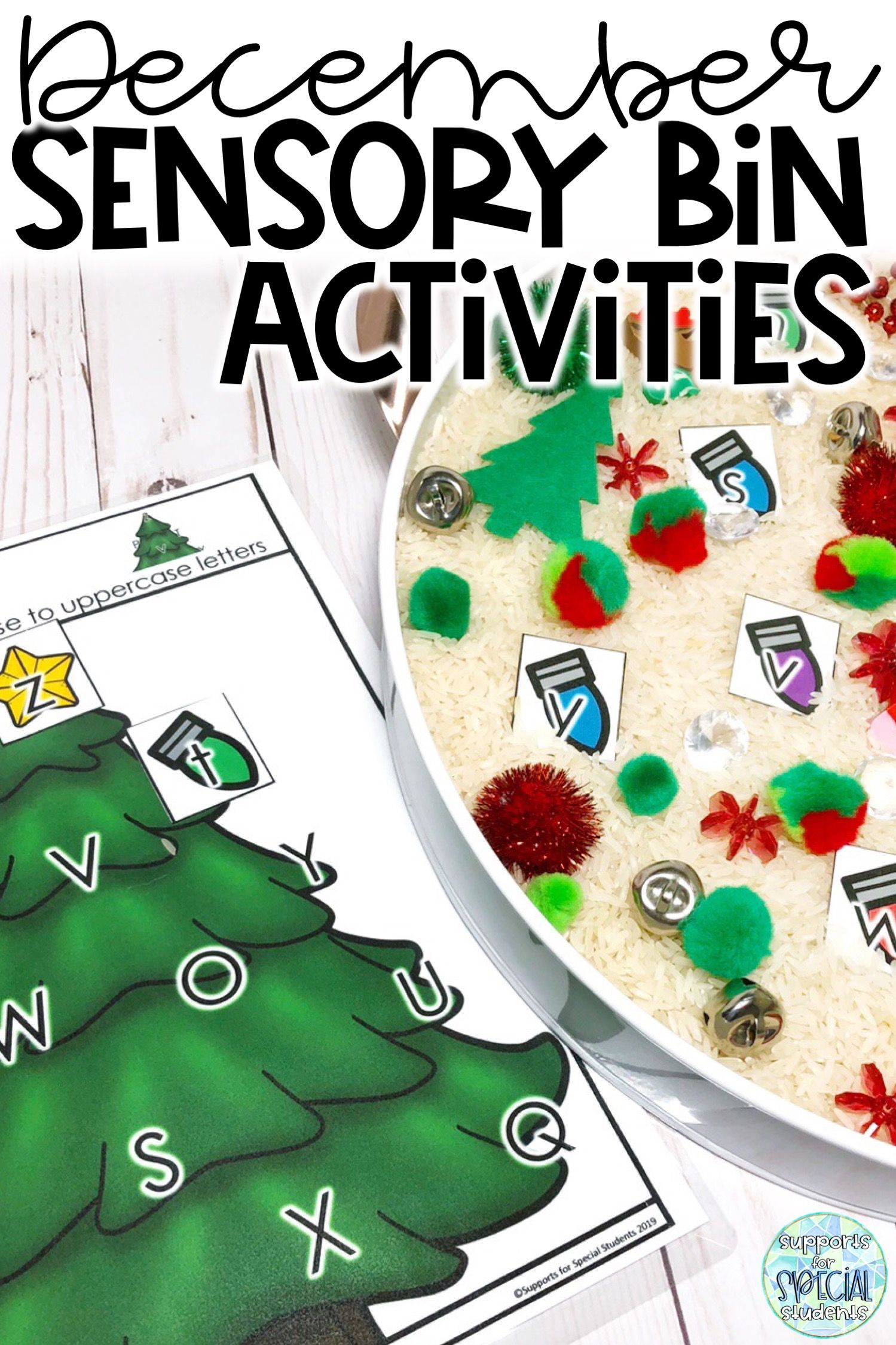 December Sensory Bin Activities