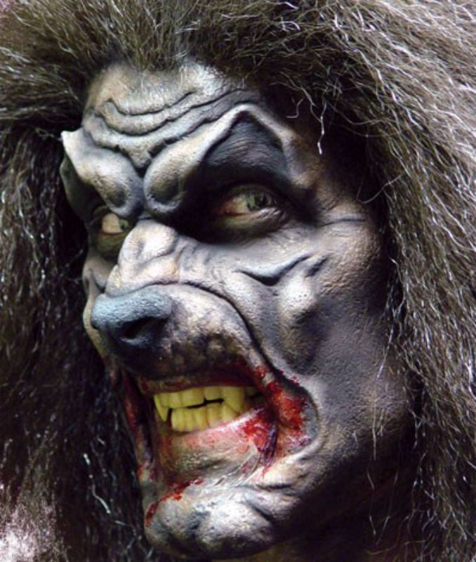 Foam Latex Werewolf Mouth Prosthetic Halloween Special FX Adults Make Up
