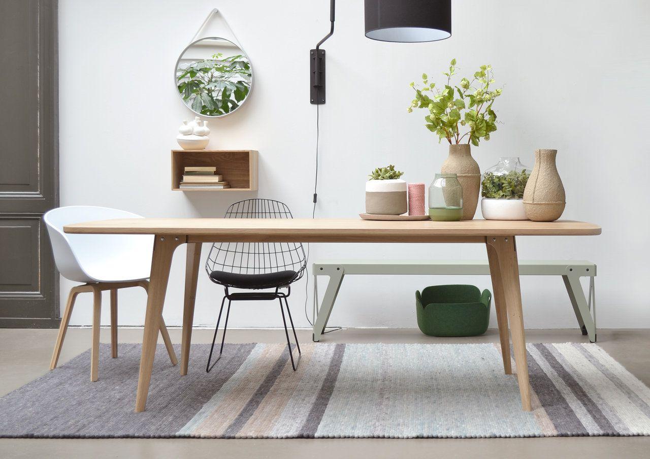 Maatwerk tafel type fjord retro scandinavische tafel van for Eiken design tafel