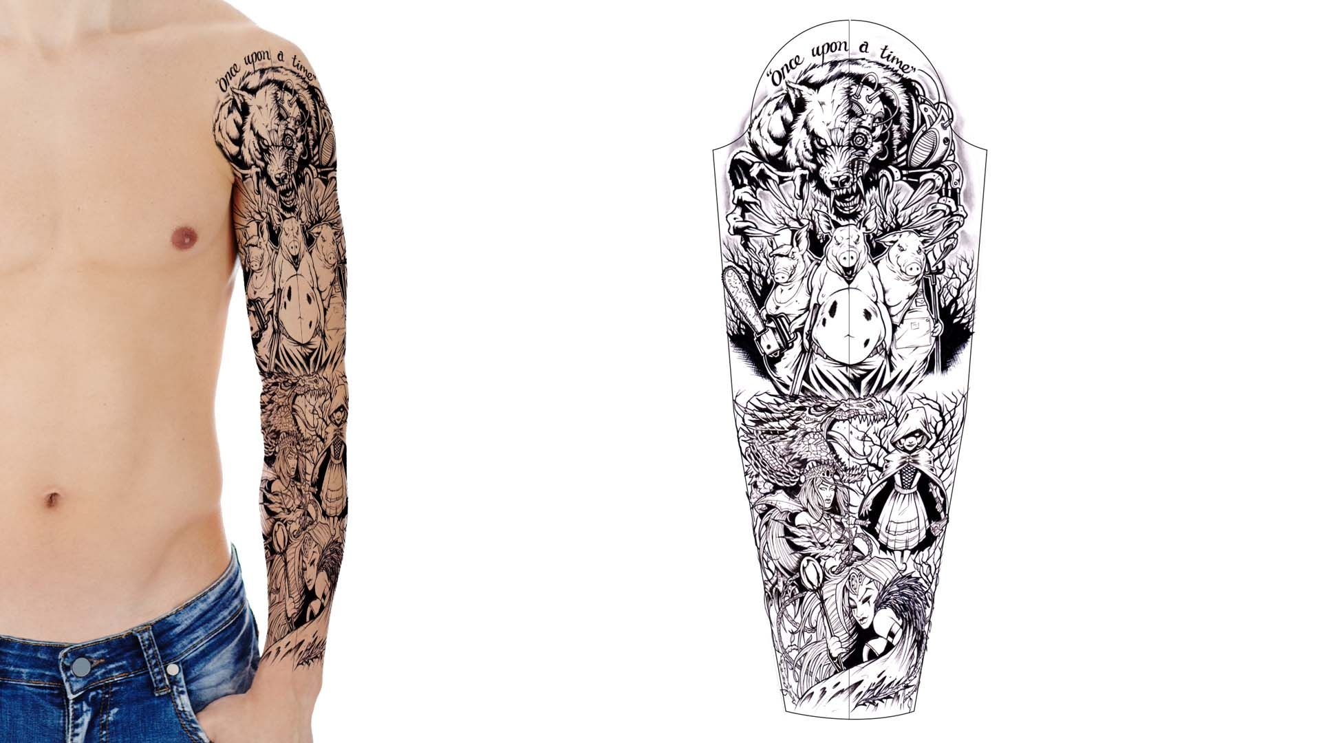 View the world 39 s best custom tattoo designs in our design for Designing a tattoo sleeve template