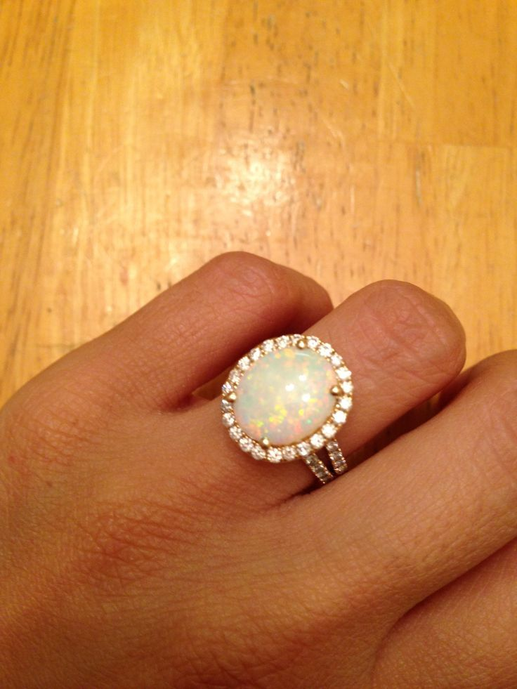 since i wanted to call it my own i asked for a beautiful opal engagement - Opal Wedding Ring Sets