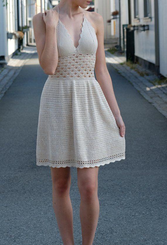 Sweet as Sugar Dress, Crochet pattern by @highinfibre