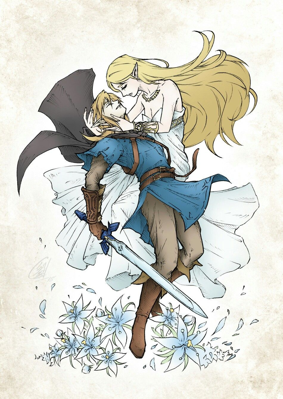 Don T Give Up Link You Re Our Last Chance Dessin Zelda Dessin