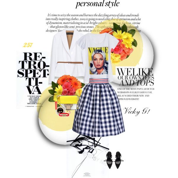 """""""Set #257 / Personal style: Vintage print t-shirt ( by BSB )"""" by vassiliki-g on Polyvore"""
