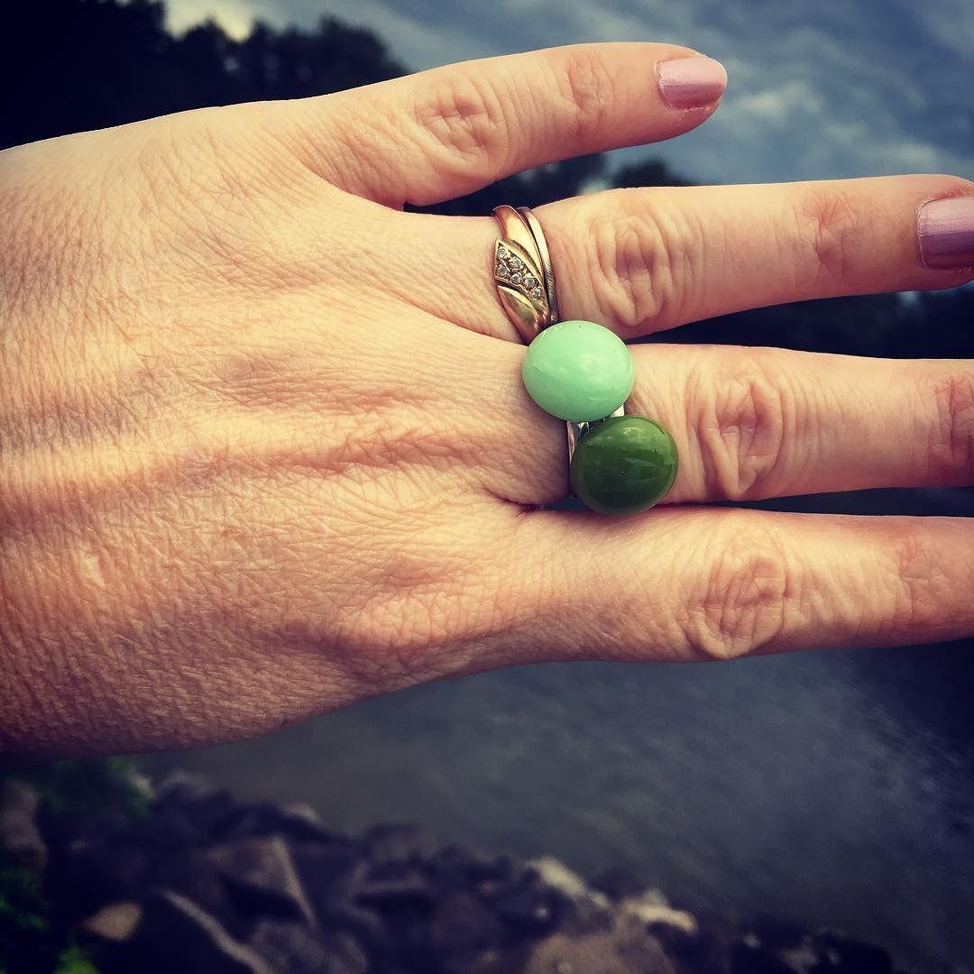 #glassjewelry #glassdesign #glass #jewelrymaker #handmadejewelry #nyiriandrea #simple #ring #green