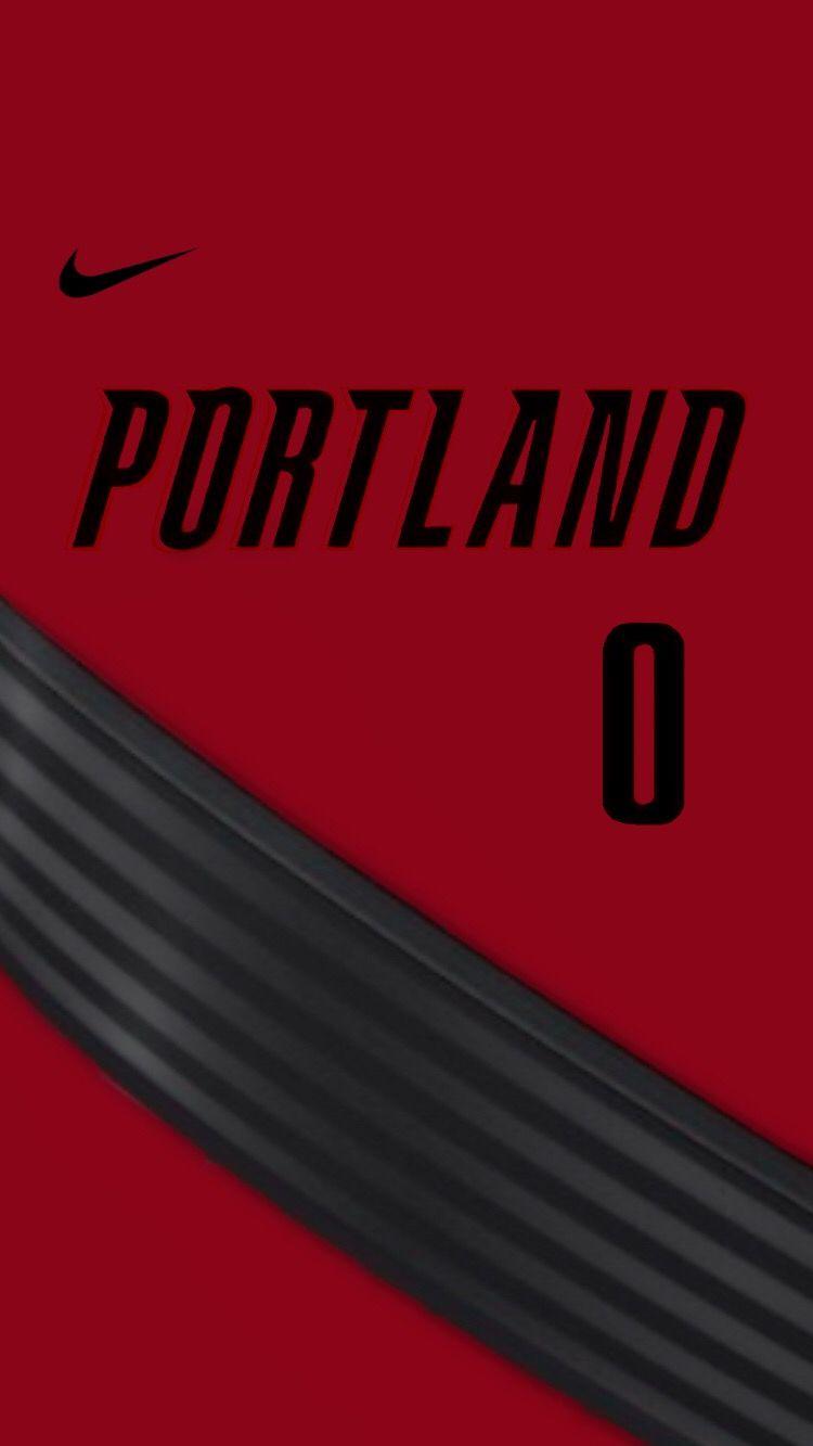 Lillard Portland Red Jersey Wallpaper Nba Uniforms Nba Wallpapers Nba Jersey