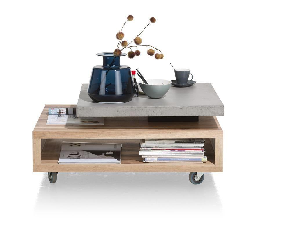 Meubles Henders Et Hazel maitre table basse 90 x 70 cm - plateaux pivotant | table
