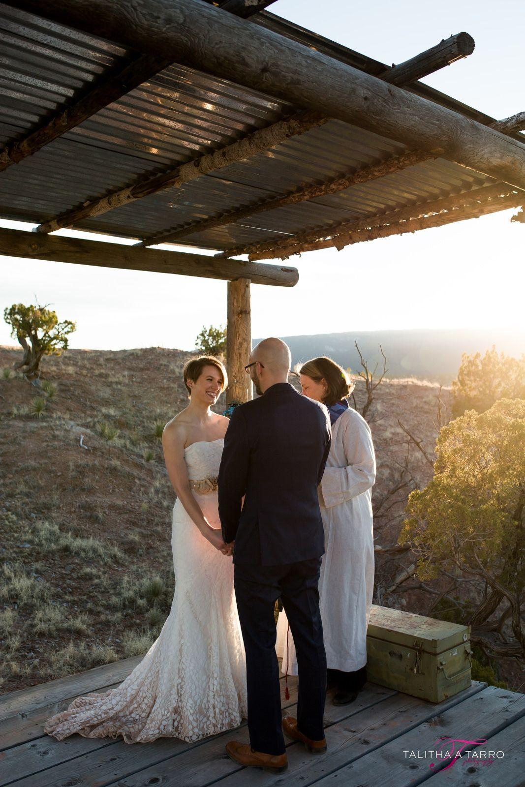 A Little Santa Fe Wedding Non Traditional Wedding Small Wedding Ceremony Elopement Outdoor Santa Fe Wedding Small Weddings Ceremony Nontraditional Wedding