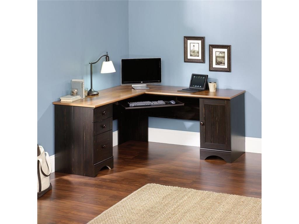 Fabulous Corner Computer Desks For Home Office Furniture Amusing Lshaped Oak Wood Top