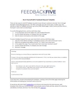 Email Template Amazon Feedback Request Template Feedback Request Templates Feedback