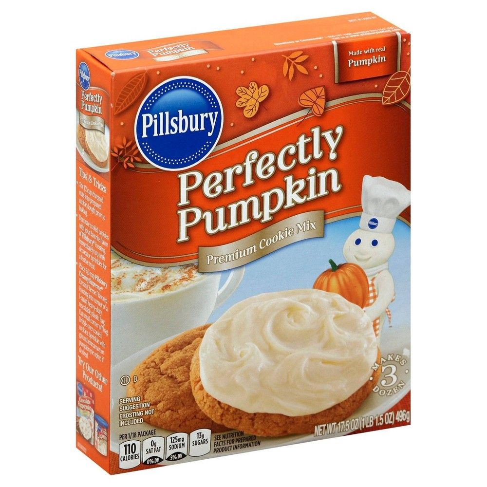 Pillsbury Perfectly Pumpkin Cookie Mix 17.5 oz | Pumpkin ...