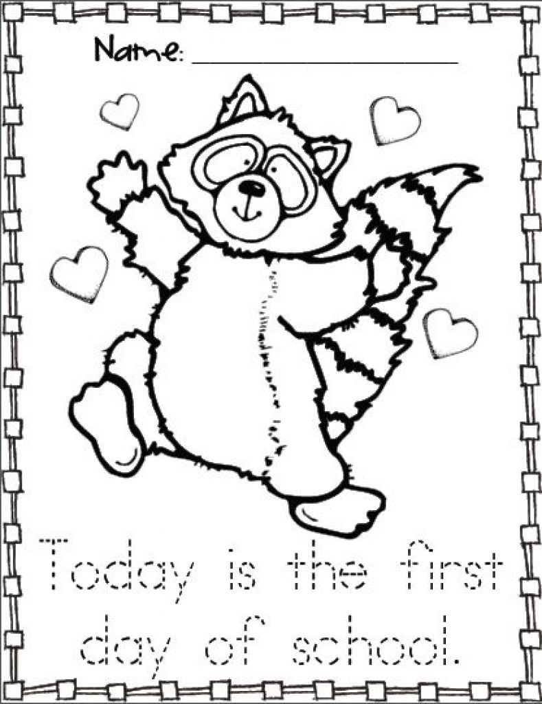 Racoon Coloring Page Kissing Hand Activities Free The Raccoon ...