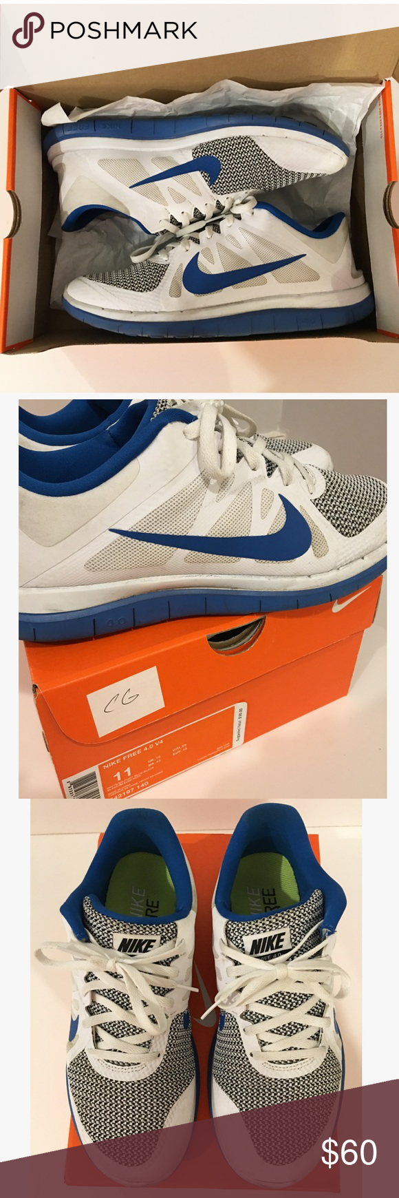 Nike Free 4.0 Men's Nike Free 4.0. Good condition. These running sneakers are extremely comfortable and have had minimal wear. Complete with original box where they have been stored inside. Nike Shoes Sneakers