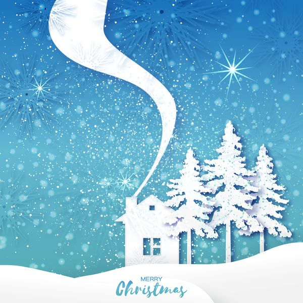 2017 Christmas paper cut with greeting cards vector 03 - Vector Card, Vector Christmas free download