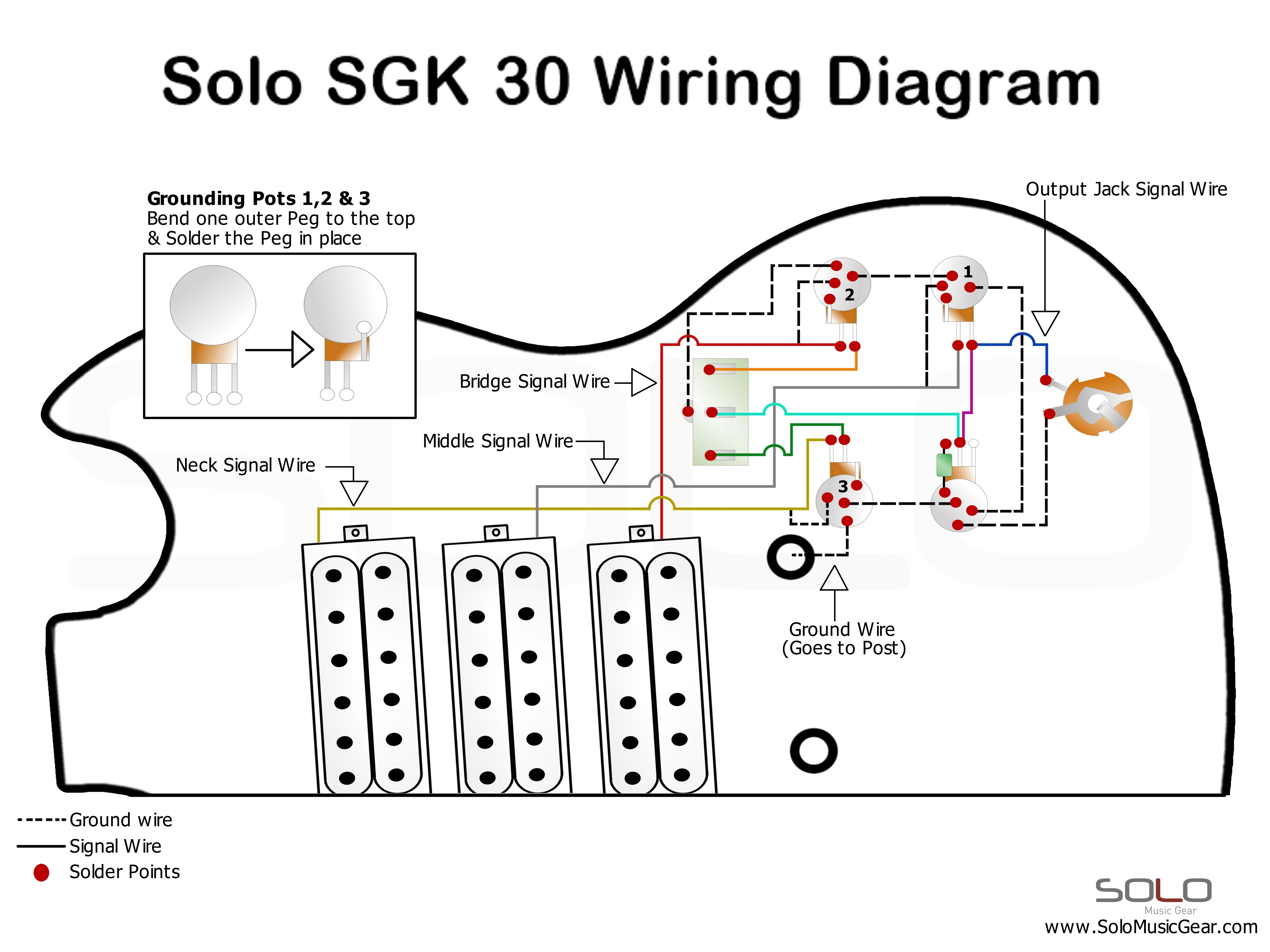 hight resolution of solo sg style 3 pickup guitar diy guitar kit wiring diagram https www