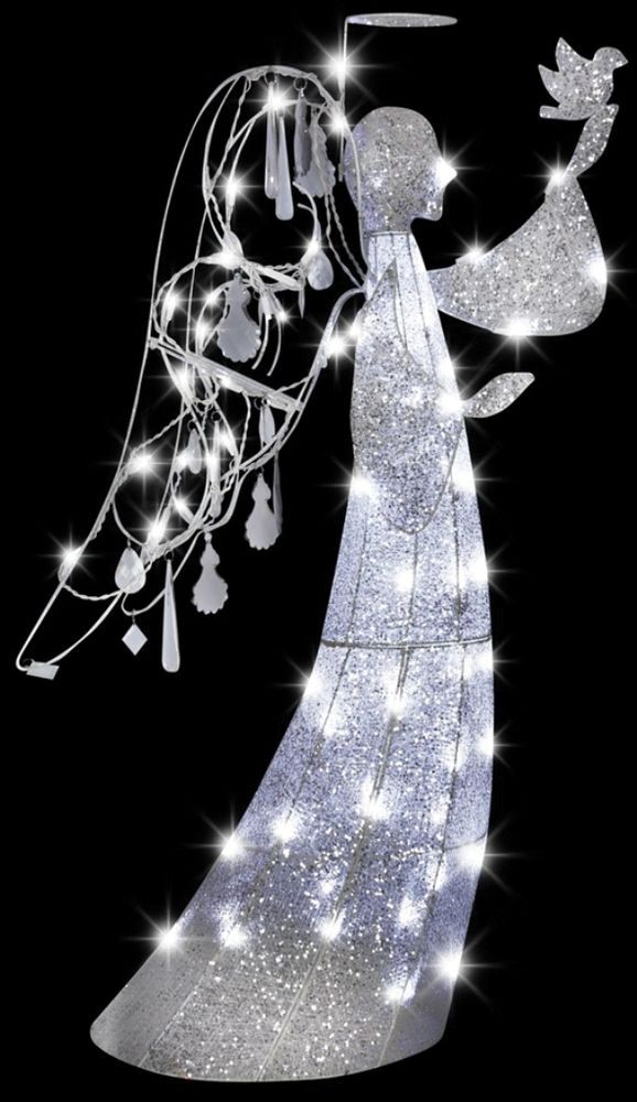JEWELED CRYSTAL ANGEL Christmas Outdoor Yard Decor Xmas Decoration - outdoor angel christmas decorations
