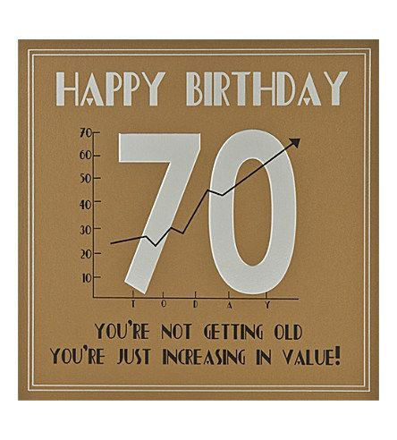 70th Birthday Cards Men