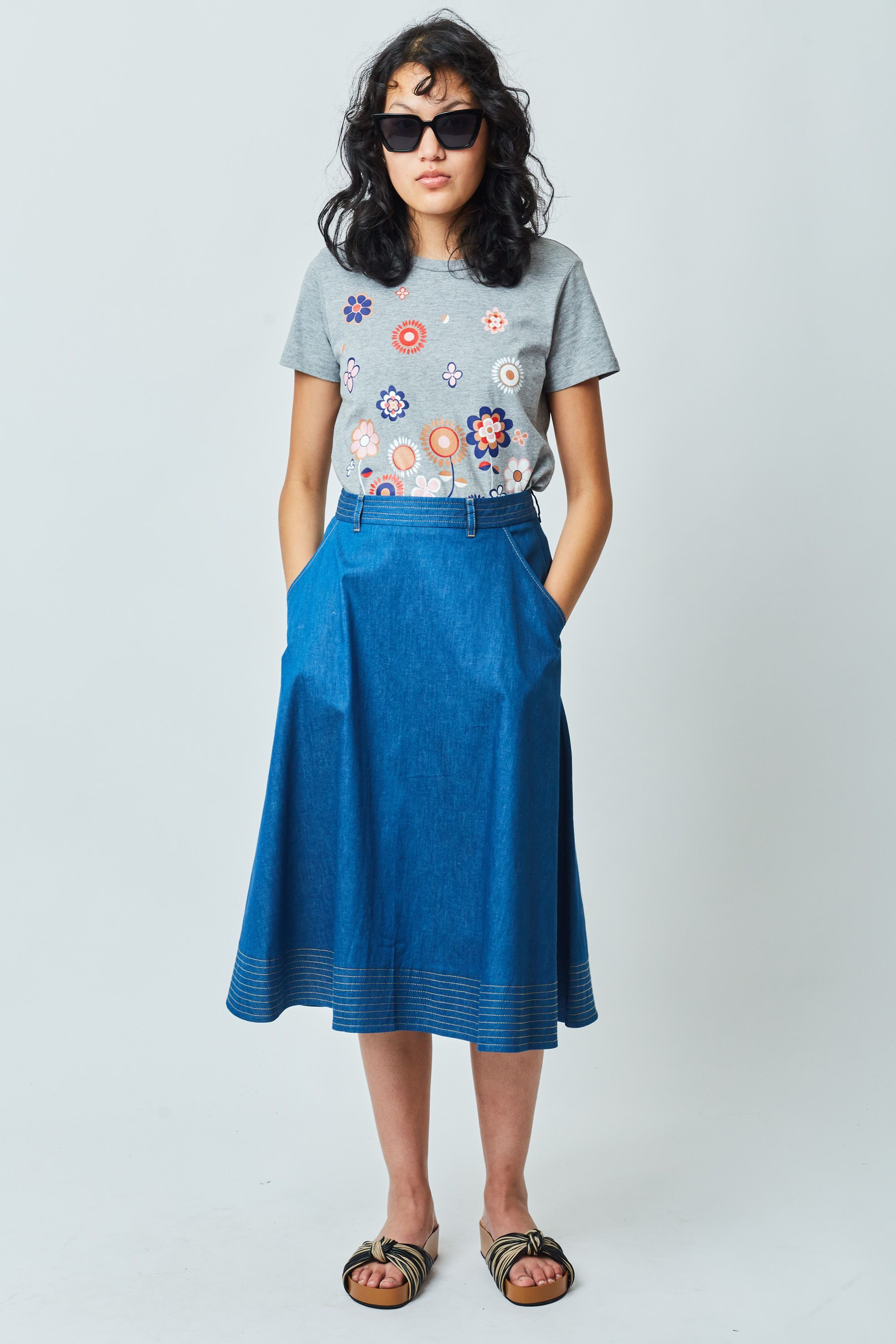 5c1316595cb3d1 Chambray skirt — Kate Sylvester | What's my style? | Chambray skirt ...