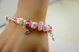 Beautiful Murano Love Charm Bracelet $19  http://www.cyber-week.com/beautiful-murano-love-charm-bracelet-19/