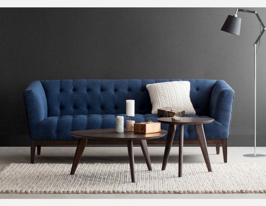 Carly 3seater sofa blue coffee table living room