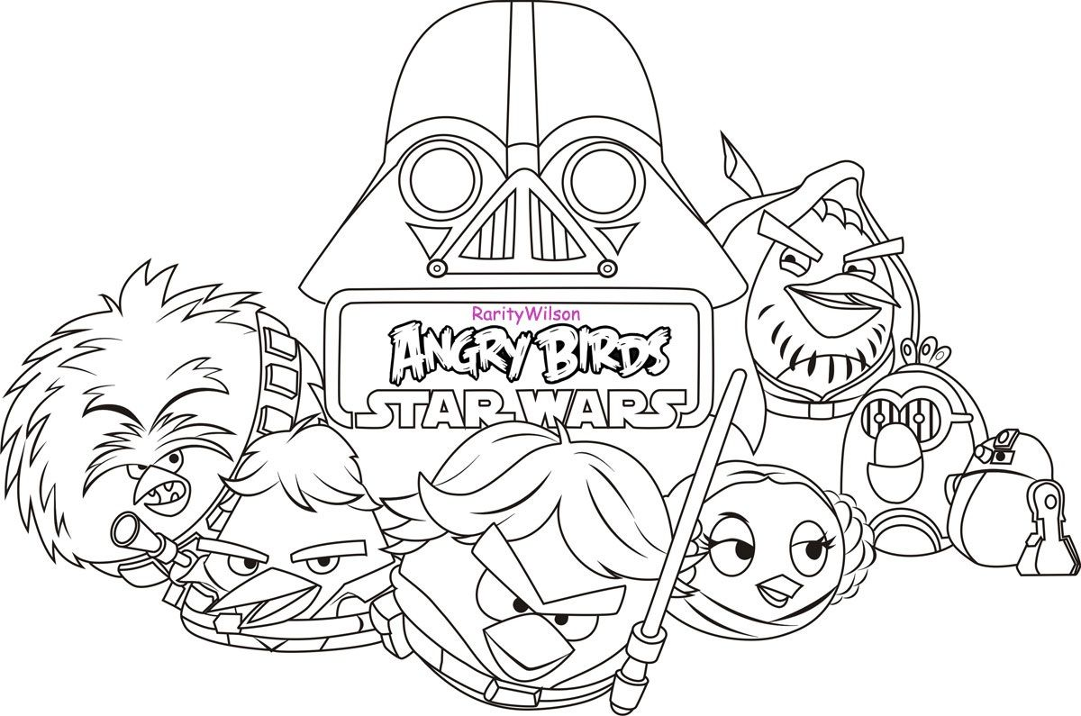 Star Wars Coloring Pages Free Printable Star Wars Coloring Pages Angry Birds Star Wars Star Wars Colors Bird Coloring Pages