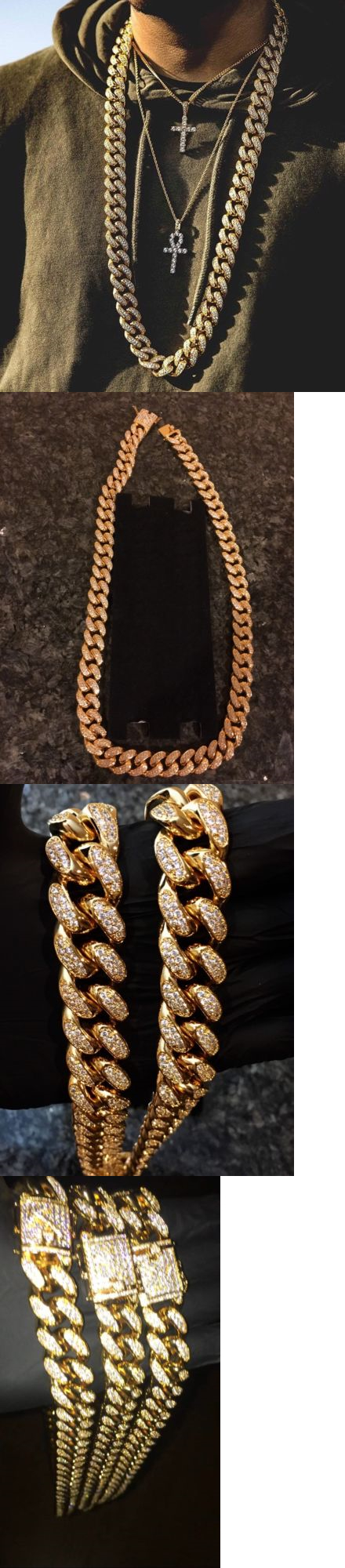 Bracelets mens iced out mm heavy thick gold and diamond