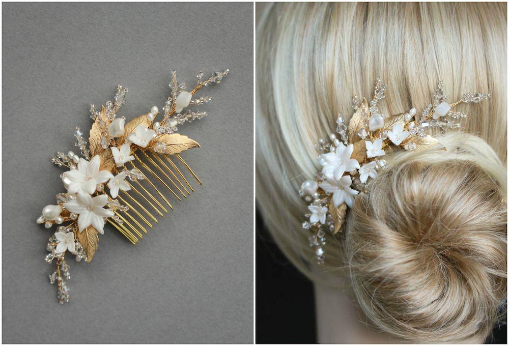 BESPOKE для Andrea_gold расчески свадьбы волос