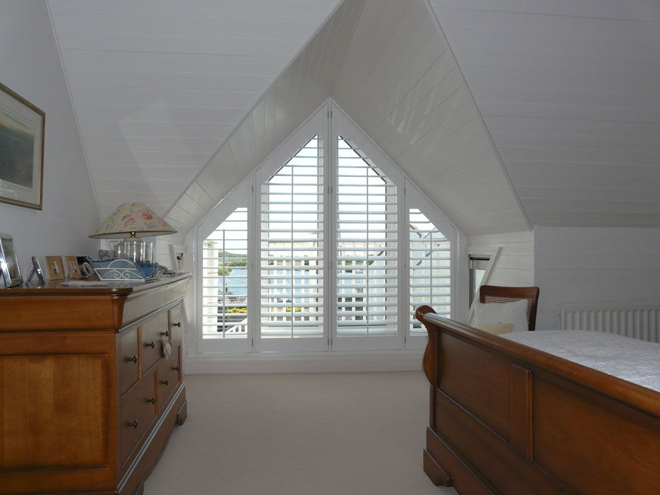 Our Gallery Showing A Collection Shutter Shapes Shaped Shutters Shutters For Shaped Windows Just Shutters For Quali Loft Spaces Gable Window Bedroom Windows